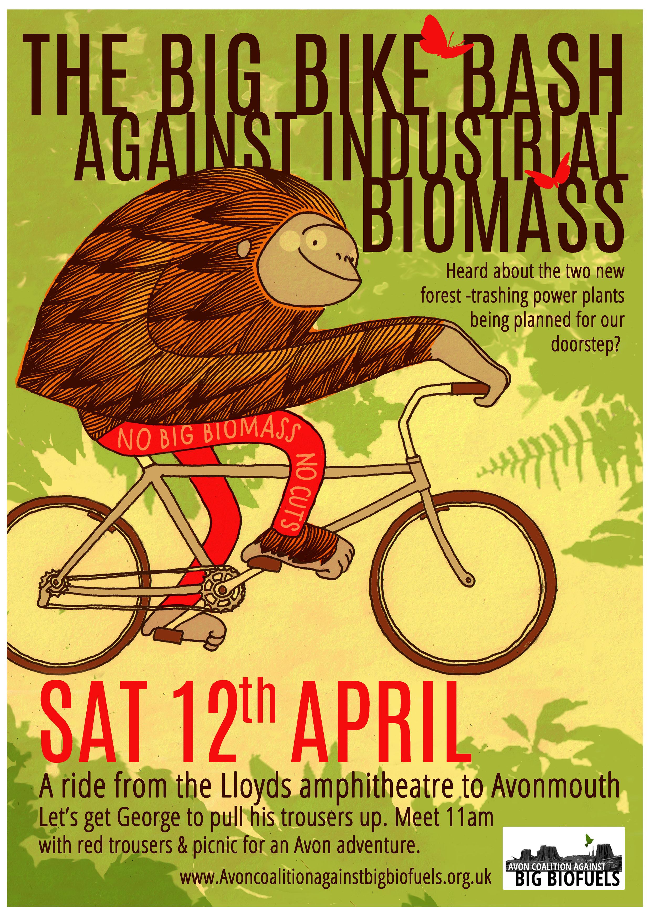Big Bike Bash Against Industrial Biomass This Saturday 12th April 11am Start Lloyds Ampitheatre