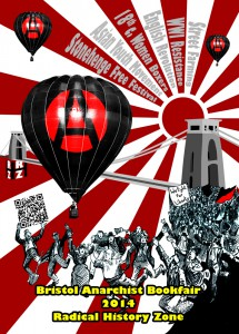 Bristol Radical History Zone Line up for the Bookfair this Saturday