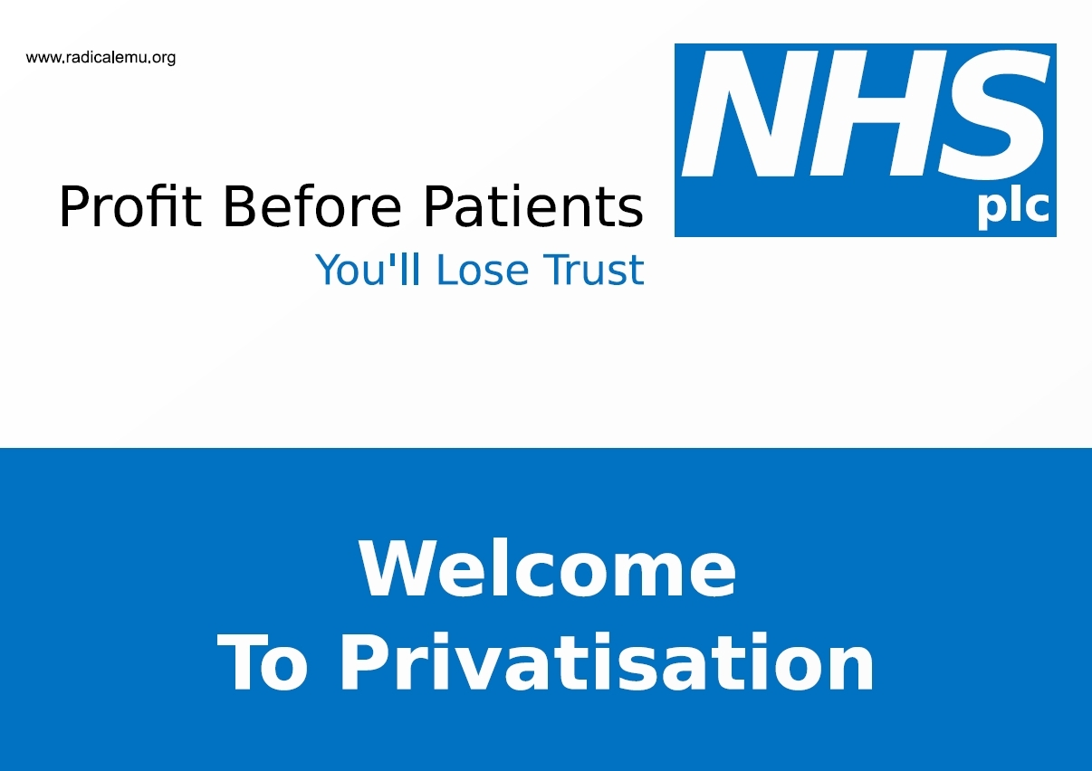 The End of the NHS? How the Govt is Privatising Health Care in England