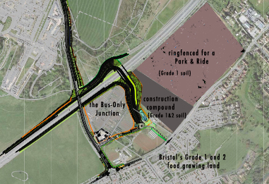 Protect Bristol's best soils and  community food growing land from becoming tarmac. 1 week left.